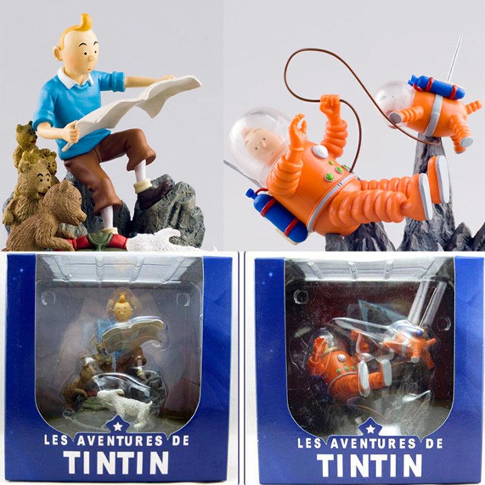 Herge The Adventures Of Tintin Milou Snowy Space Suit Destination Moon Objectif Lune Figure Model Toys