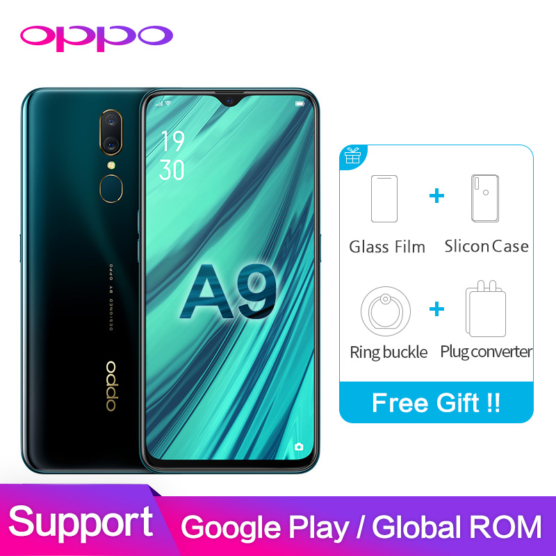 """OPPO A9 4GB 6GB 64GB 128GB Support Google Play OTG 6.53"""" 1080*2340P Water Drop screen Octa Core 16MP+16MP+2MP cameras Phone"""