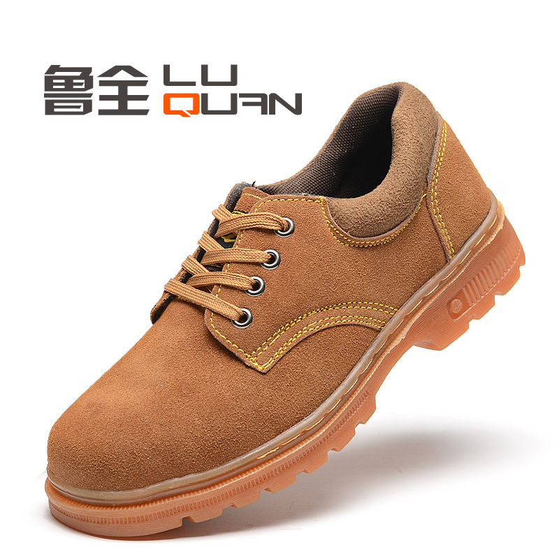 Rubber Sole Safety Shoes Anti-smashing And Anti-penetration Safe Protective Shoes Wear-Resistant Oil Resistant Suede Safety Shoe