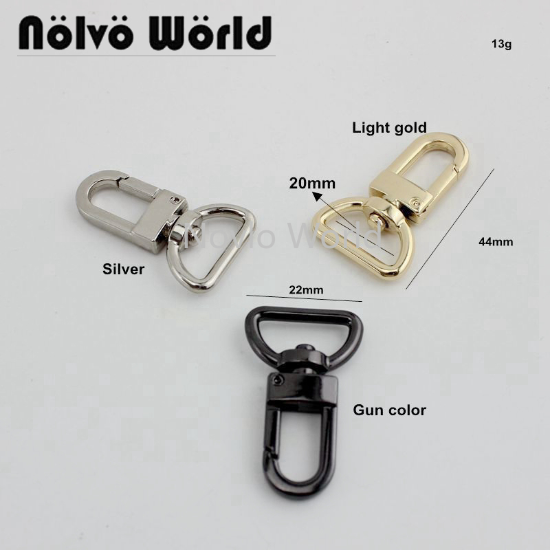 50pcs 3/4 Inch 2cm 5 Colors Luggage Tag Snap Hook Clasp,metal Clip Swivel Clasp Clip For Purse Strapping