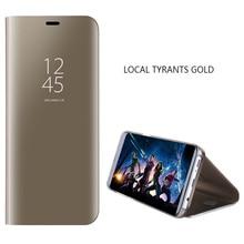 Deluxe Smart Mirror Flip Phone Case for VIVO V9 Y85 A71 V7+ V7 Y75 Y66 Y67 V5 Y83 V11 V11Pro V11i V15 V15Pro S1Pro Y65 Y81 FUNDA
