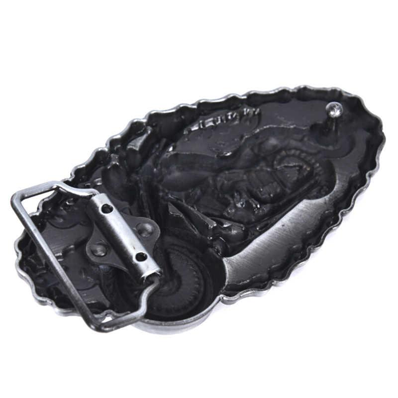 Motosiklet modelleme kovboy alaşım kemer tokası kovboy ve Cowgirl Metal alet batı kemer tokaları 1.5 inç genişlik