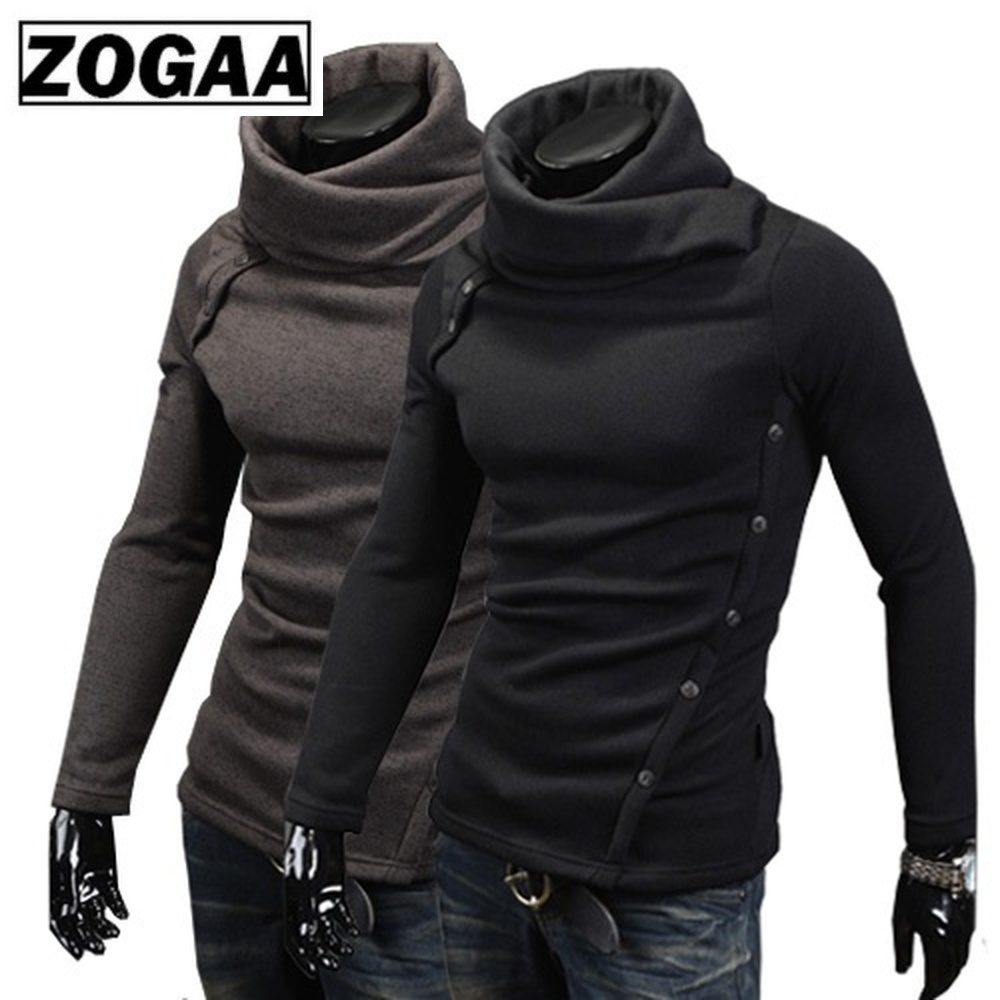 ZOGAA Men's Turtleneck Men Sweater Christmas Cotton Male Pull Homme Winter Pullover Pull Homme 2019 Men's Sweater