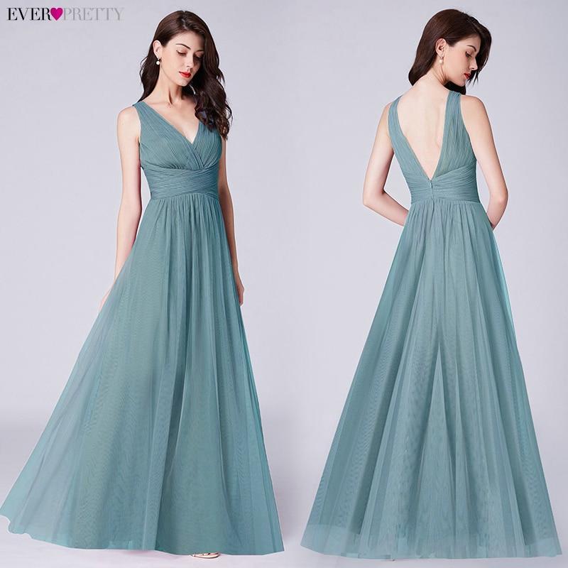 Navy Blue   Prom     Dresses   Long Ever Pretty A-line V-neck Elegant Vestido Largo De Fiesta vestido de fiesta 2019 largo Party Gowns