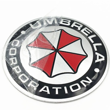 3D Aluminum Umbrella Corporation  Stickers Emblem Badge Car Trunk Metal Sticker Decal with Self Adhesive