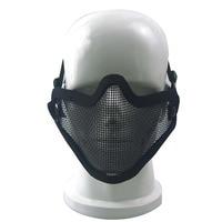 Spor ve Eğlence'ten Bisiklet Yüz Maskesi'de Airsoft Alan Wargame Tribal Şef Maskesi Yarım Yüz Metal çelik ağ Örgü Avcılık Taktik Koruyucu Airsoft Maskesi 3 renkler