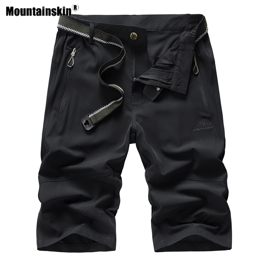 Mountainskin Summer Men's Quick Dry Breathable Short Outdoor Sportswear Hiking Trekking Running Camping Climb Male Trouser VA666