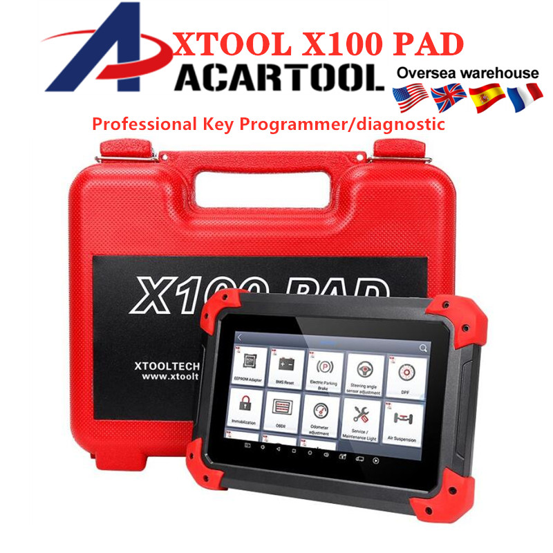 XTOOL X100 PAD Key Programmer OBD2 Diagnostic Scanner Automotive Code Reader Multi Language with EEPORM Update