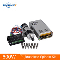 600W Brushless Spindle ER11 Motor CNS Spindle Switching Power Supply Stepper Motor Driver 55MM Clamp 13pcs ER11 Collet Chuck