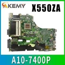 X550ZA scheda madre Del Computer Portatile para ASUS X550ZA X550ZE X550Z X550 K550Z X555Z VM590Z A10-7400P LVDS Teste mainboard originale GM