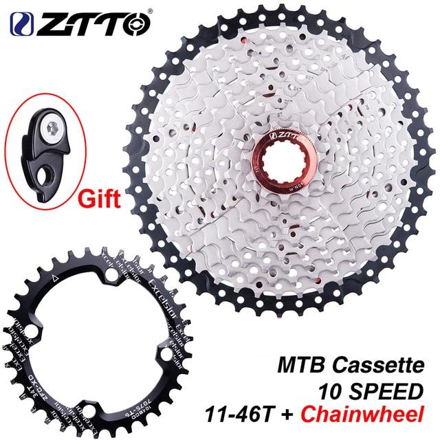 ZTTO bisiklet 10 hız kaset 11 46T aynakol 10 S 10v 46t k7 geniş oranı MTB dağ bisikleti Freewheel 10 hız dişli