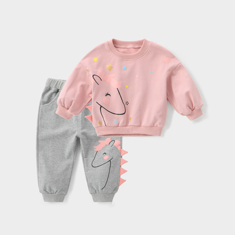 New Spring baby girls clothes sports T shirts tops pants sets for new born baby girls clothing 1 year birthday sets babies suit