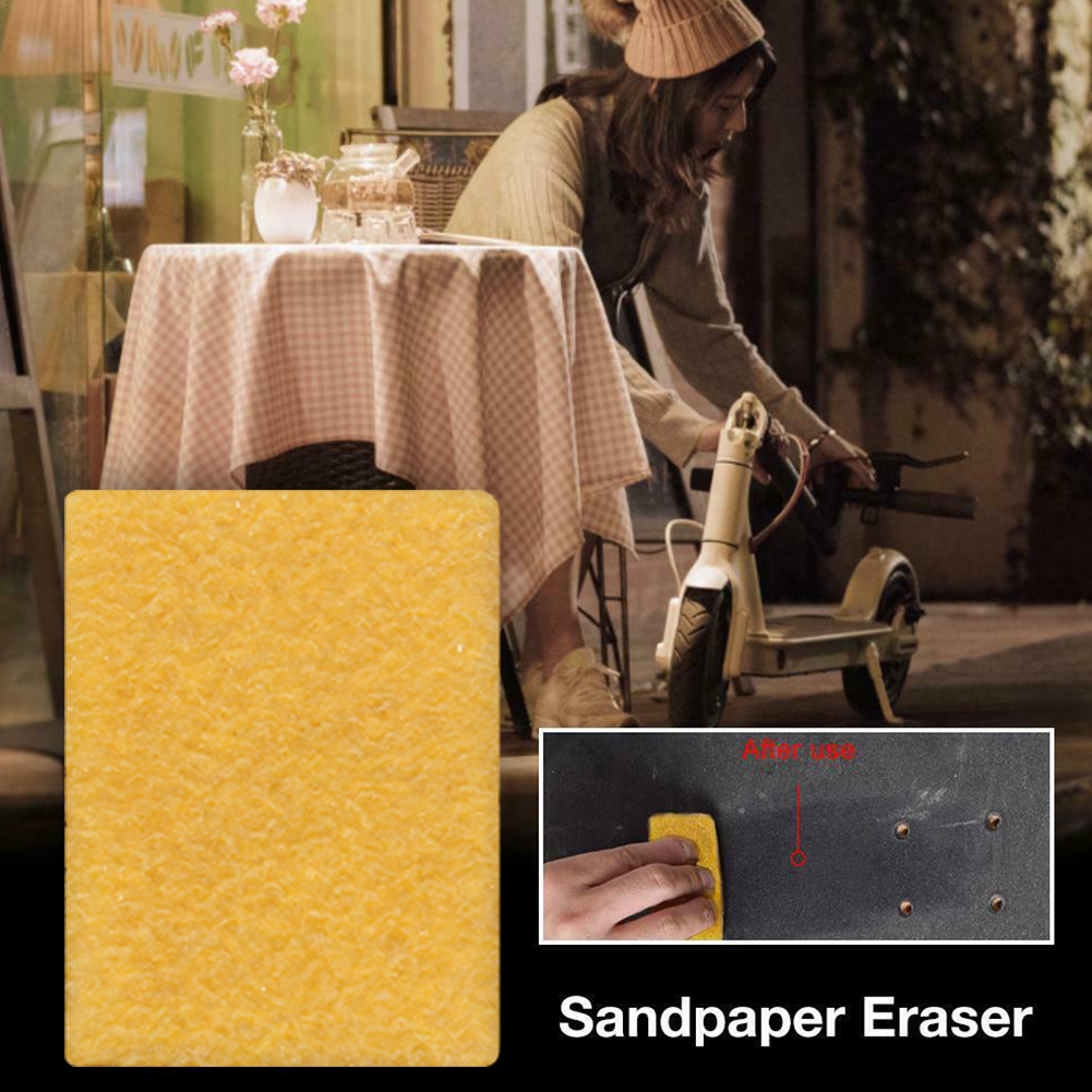 10pcs Sandpaper Cleaner Skateboard High Performance Long Board Portable Reusable Griptape Eraser Accessories Cleaning Sponge