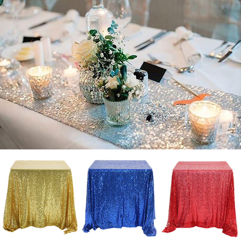 4 Size Rectangular Table Cover Glitter Sequin Cloth Rose Gold Silver Tablecloth For Wedding Birthday Party Home Decor Big Offer 60a6 Goteborgsaventyrscenter - What Size Is A Rectangular Party Table