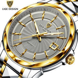 LIGE Mechanical-Watches Wrist-Watch Business Waterproof Automatic Tourbillon Men Fashion