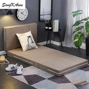 SongKAum шлифовальные матрасы с принтом, сохраняющие тепло складные татами, одиночный студенческий спальный матрас для общежития, семейные пок...