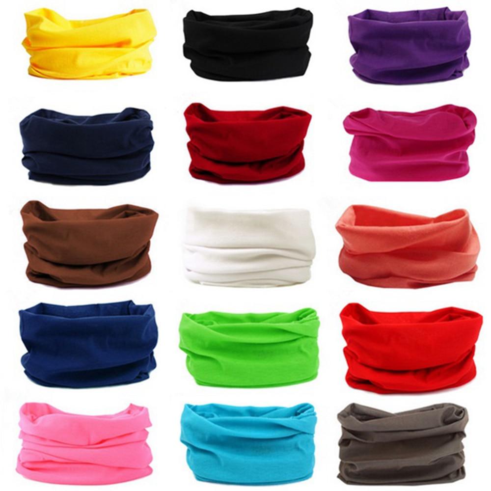 1pc Colorful Flexibility Windproof Cycling Bandana Turban Fishing Headband Head Scarf Face Mask Men Women Outdoor Sports supply