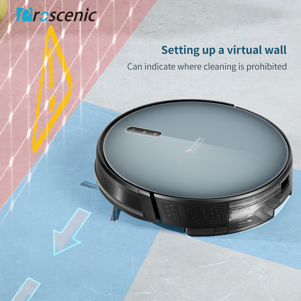 Proscenic 830P Robot Vacuum Cleaner 2000PA Vacuum Sweep Mop Clean 3in1 600ML Dust Box For Home Pets Hair Carpets And Hard Floors - 4