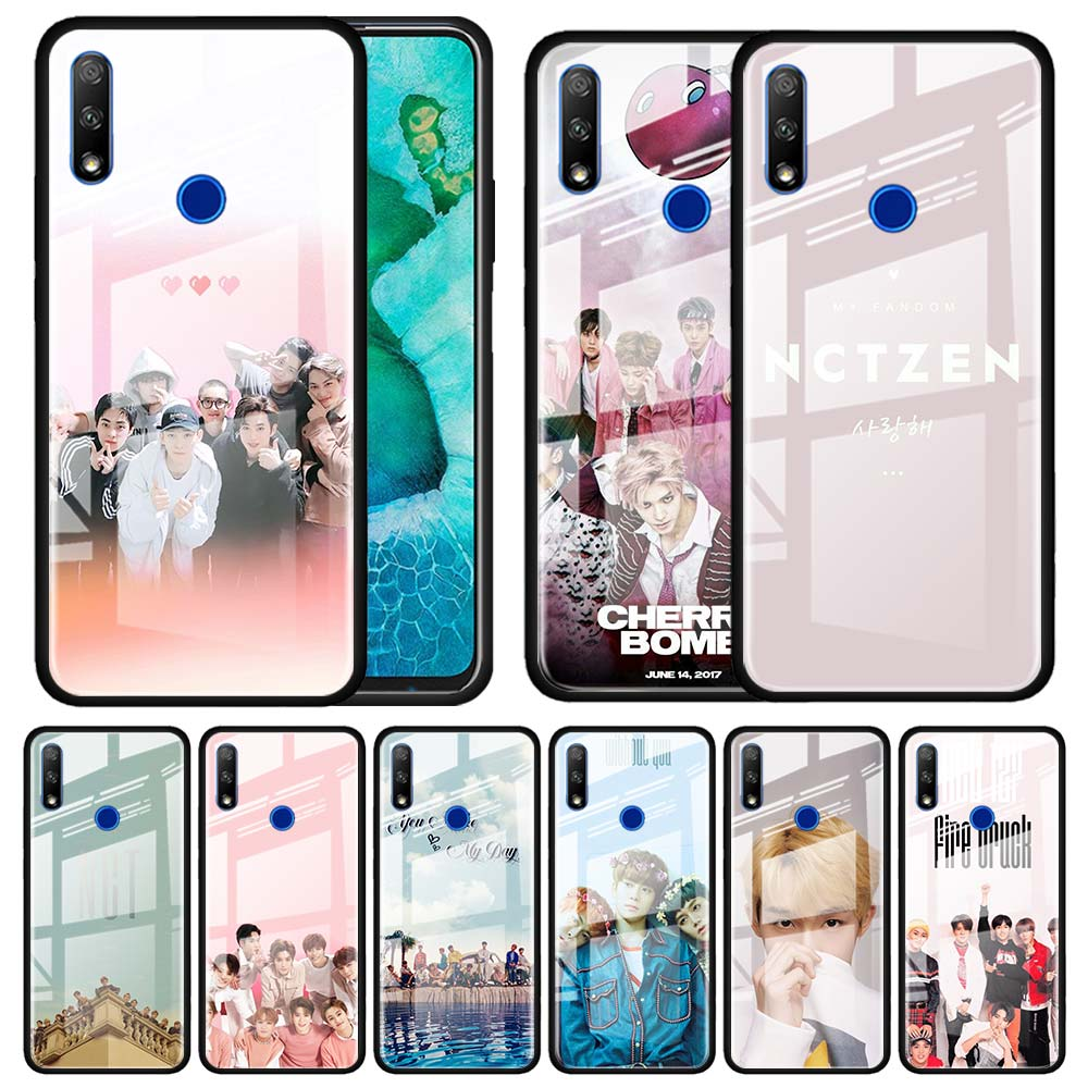 Tempered Glass Case for <font><b>Huawei</b></font> <font><b>Y6</b></font> Y7 Y9 Prime <font><b>2019</b></font> Honor 20 10 Lite 30S 8X 9X Pro View 30 <font><b>Funda</b></font> Capa NCT 127 Kpop grupo Menino image