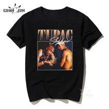 Tee-Shirt homme Rap D'eminem Tupac PLAYBOI Tshirt Unisexe Vintage En Coton Noir T-Shirt Décontracté 80 90S Hip Hop T-Shirts Streetwear Lil Peep