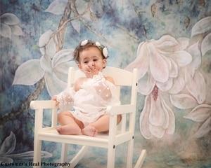 Image 4 - خلفيات استحمام للرضع من Laeacco زهور تتفتح الأشجار للأطفال حديثي الولادة خلفيات تصوير للأطفال الحوامل صورة Photophone