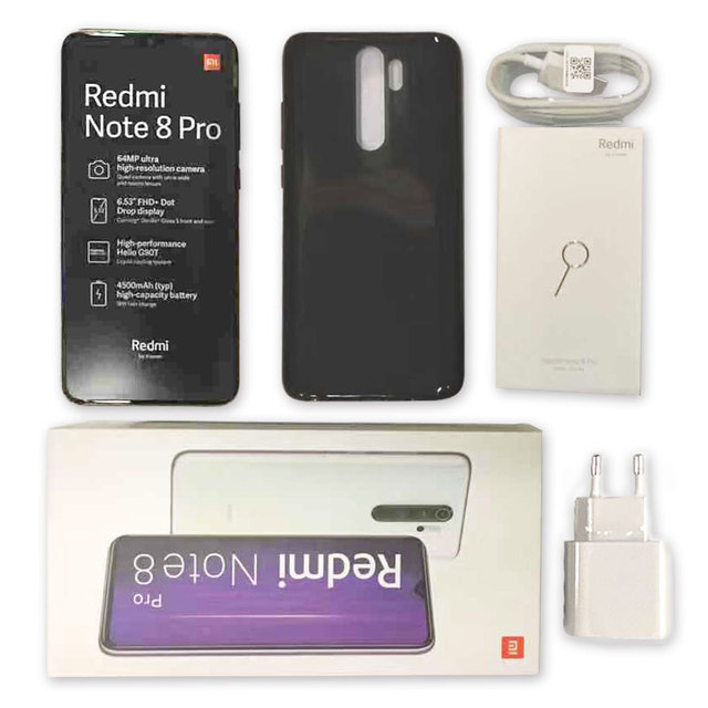 Global Version Xiaomi Redmi Note 8 Pro 6GB 64GB /128GB Smartphone 64MP Quad Camera Helio G90T Octa Core 4500mAh NFC