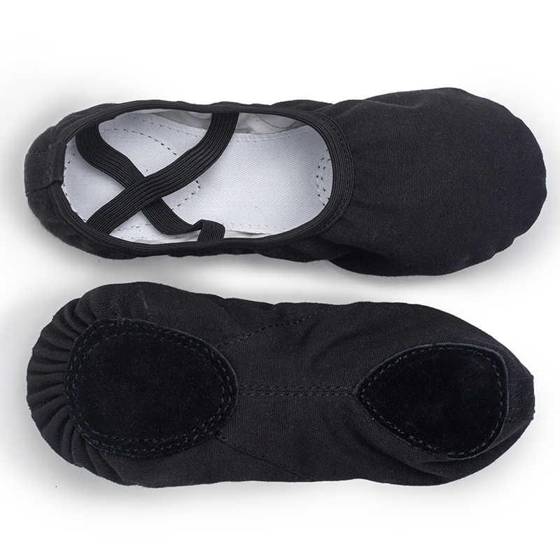 Ushine EU23-45 qualidade profissional plana chinelos de lona macio único barriga yoga ginásio ballet sapatos meninas mulher homem bailarina