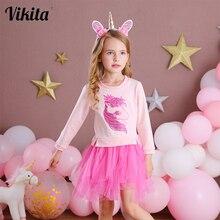 Children Clothing Tutu-Dress Licorne Tulle Party VIKITA Costumes Birthday Wedding Girl