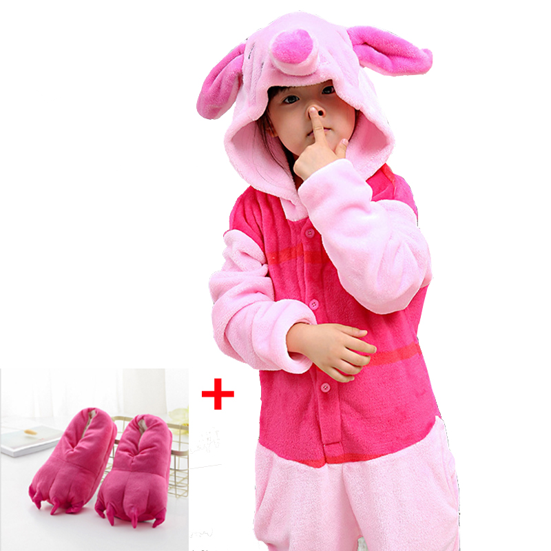 Children Animal Piglet Cosplay Pajamas Kigurumi Unisex Costume Sleepwear