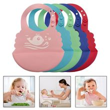 Waterproof Baby Food-Grade Silicone Bibs Infant Feeding Food Catcher Pocket Saliva Towel
