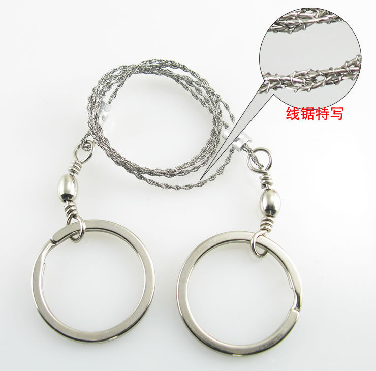 Outdoor Survival Wire Saw 4-Unit Wire Saws/Survival Cable Chain Saw Line According To OPP Wire Saw