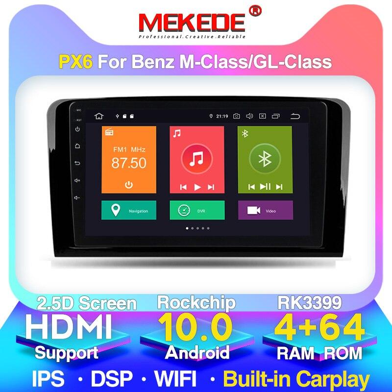 8 çekirdekli DPS IPS 4G LTE WIFI araba video radyo multimedya oynatıcı için Benz M sınıfı W164 GL sınıf X164 ML GL ML350 ML500 GL350 GL450