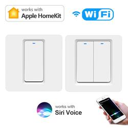 Apple Homekit Smart Switch Wifi Remote Siri Voice Control Led Lamp For Room Bedroom Home EU Cover Plate Button Wall Light Switch