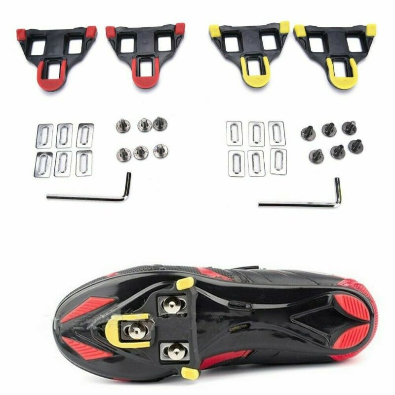 Bicycle Cleats Cycling Pedals Cleats Set Self-Locking Pedal Splint Compatible with Look Keo Cleats 1 Pair
