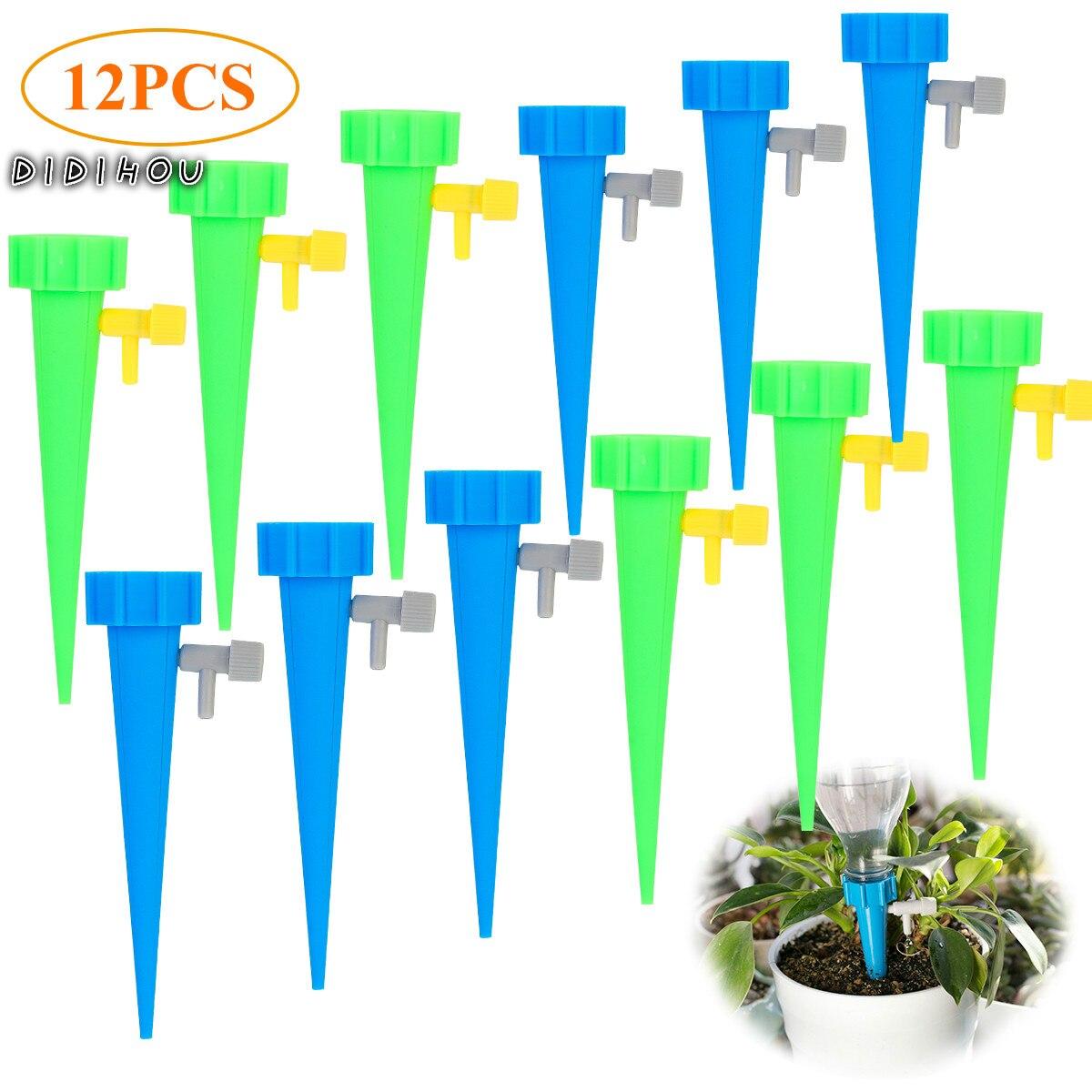 12 шт. Авто капельное орошение полив система капельница шип наборы сад дом растение цветок автоматический полив инструменты