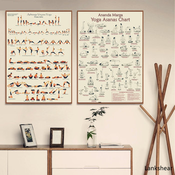 Yoga Ashtanga Primary Series Posters and Prints Wall art Decorative Picture Canvas Painting For Living Room Home Decor Unframed human organs anatomy chart posters and prints canvas art decorative wall pictures for living room home decor unframed painting