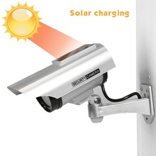цена на Solar Waterproof Dummy Fake CCTV Camera With Flashing LED For Outdoor or Indoor Realistic Looking fake Camera for Security