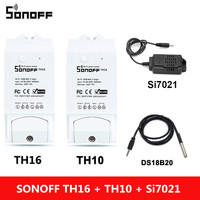 Sonoff TH 10A/16A Smart Wifi Switch Controller With Temperature Sensor And Waterproof Humidity Monitoring Home Automation