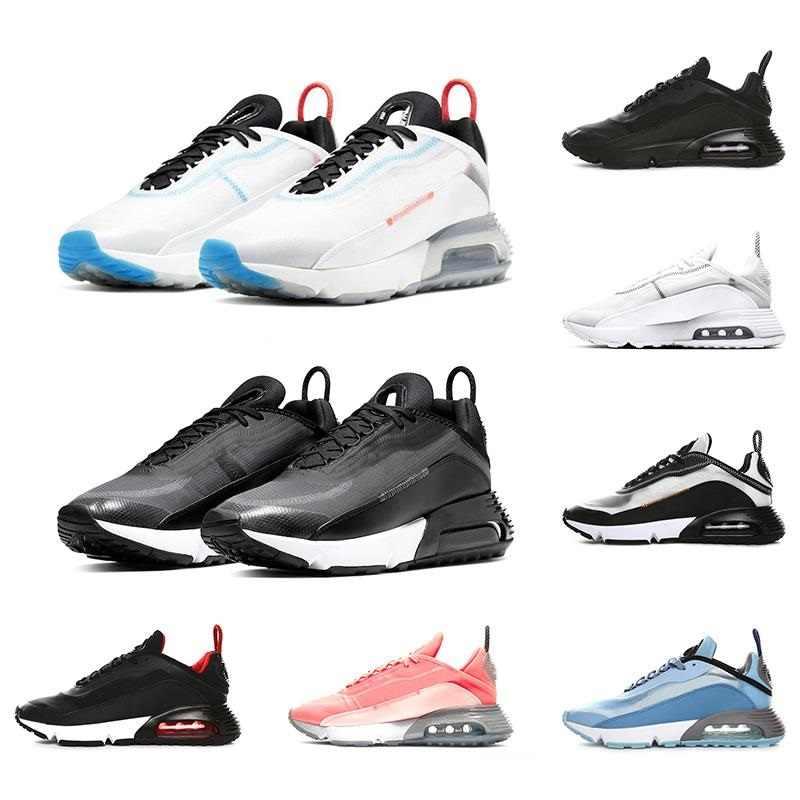 2090 Mannen Vrouwen Loopschoenen Pure Platinum Eend Camo Gefokt Triple Zwart Wit 2090 S Mens Sport Sneakers Maat 36-45