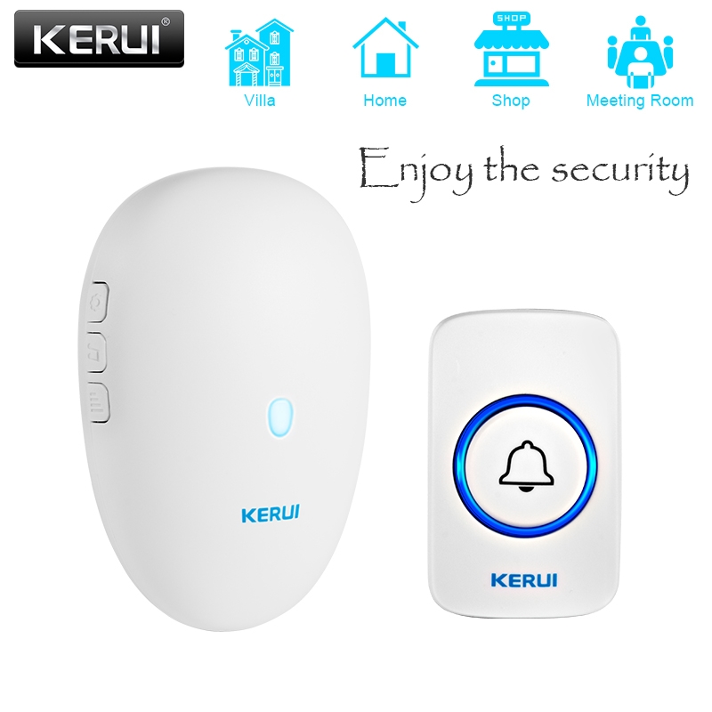 KERUI M521 Wireless Welcome Doorbell Home Security Alarm System 433MHz Smart Chimes With 57 Songs 4 Volume Levels EU US UK Plug