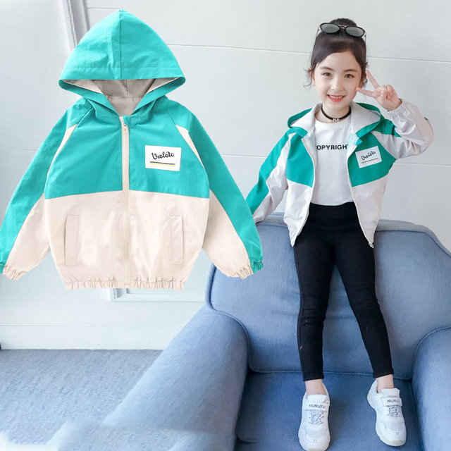Kids Jackets For Girls 2020 New Coat For Baby Girl Spring Autumn Patchwork Long Sleeve Children Hooded Outerwear Toddler Clothes