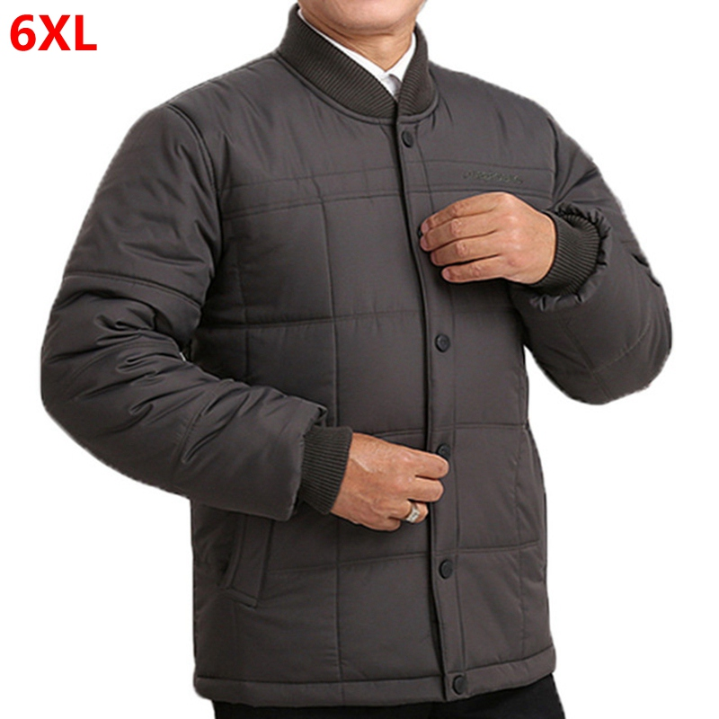 Big Size Winter Cotton Jacket 6XL 5XL Father Cotton Coat Men's Cotton-padded Clothes Big Size Jacket Coat Liner