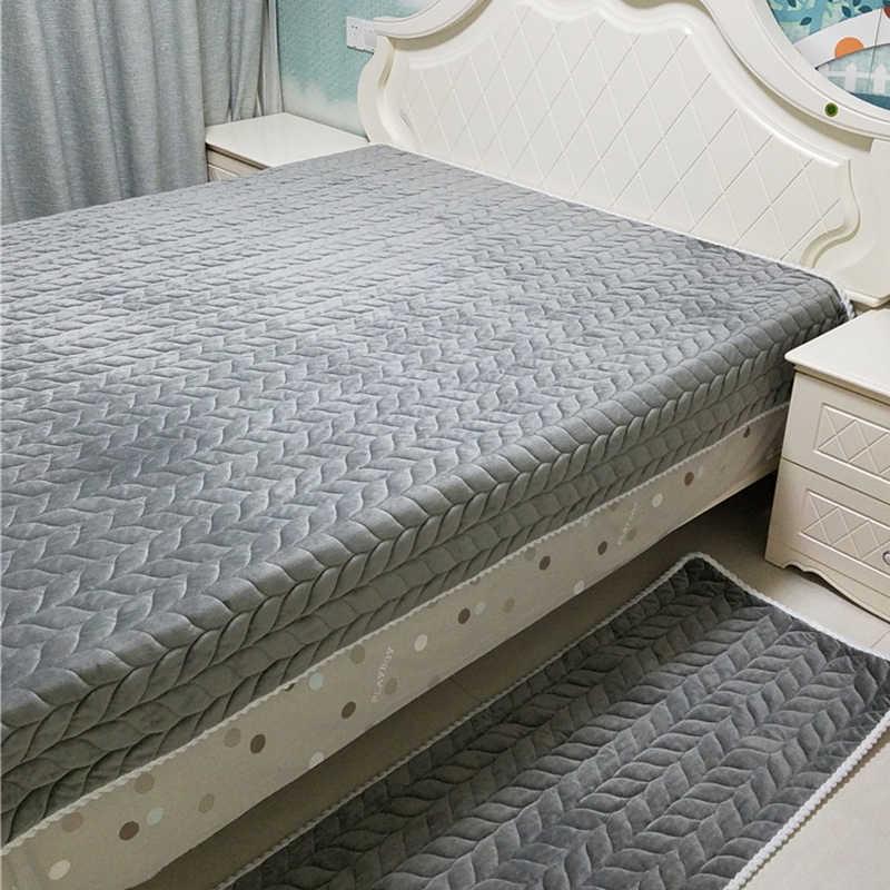 Kalınlaşmak peluş kumaş kanepe örtüsü dantel kayma dayanıklı Slipcover koltuk avrupa tarzı kanepe kılıfı kanepe havlu oturma odası dekor için