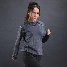 Running Jacket Sportswear Tracksuits Fitness Workout Yoga Women Sweatshirts Hooded Quick-Dry