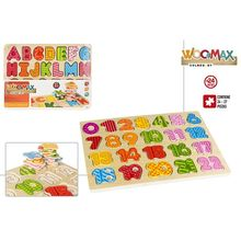 Set 2 Puzzle Wood Numbers and letters learning-Regalos baby and infants funny activities, teaching, Games application