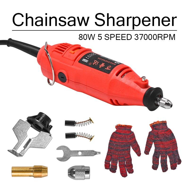 180W 5 Speed 37000rpm Power Grinder Chain Saw Sharpener Handheld Power Chain Machine Electric Grind Chainsaw Sharpening Machine