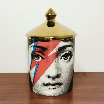 Lady Face Candle Holder Human Face Jar Candelabra Retro Storage Bin Ceramic Cafts Home Decoration Jewerlly Storage Box 18