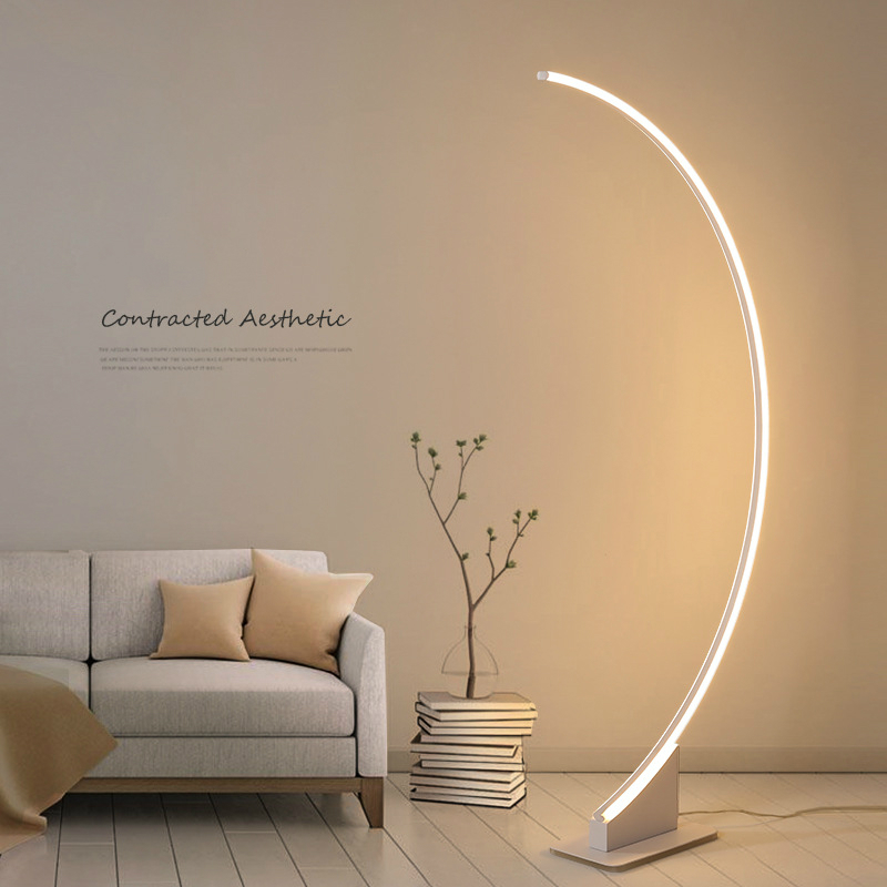 US $131.14 21% OFF|Brief Floor Standing Lamp Living Room Modern Lamp  Fishing Design Desk Lamp Table Light Stand Floor Lamps Bedroom Dropshipping  on ...