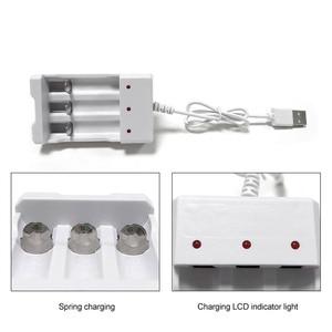 Image 3 - VOXLINK cargador de batería USB con 3 ranuras, cable USB para cargador de pilas recargables AA/AAA para cámara de micrófono de control remoto