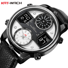 KAT-WACH Fashion Luxury Brand 5ATM Waterproof Watch 24-Hour Men's Analog Quartz